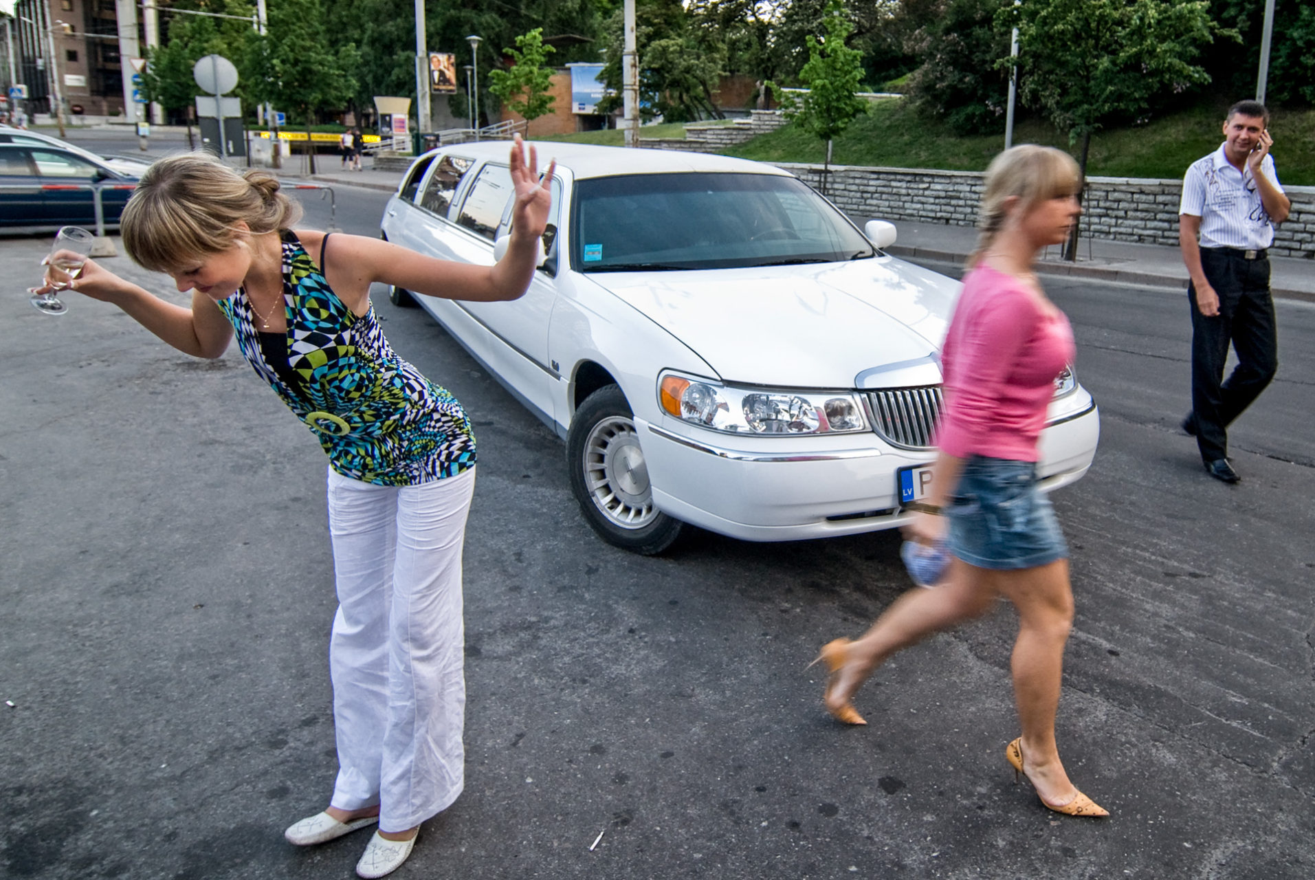 Estonia, Tallinn 2007. Going out with a limo