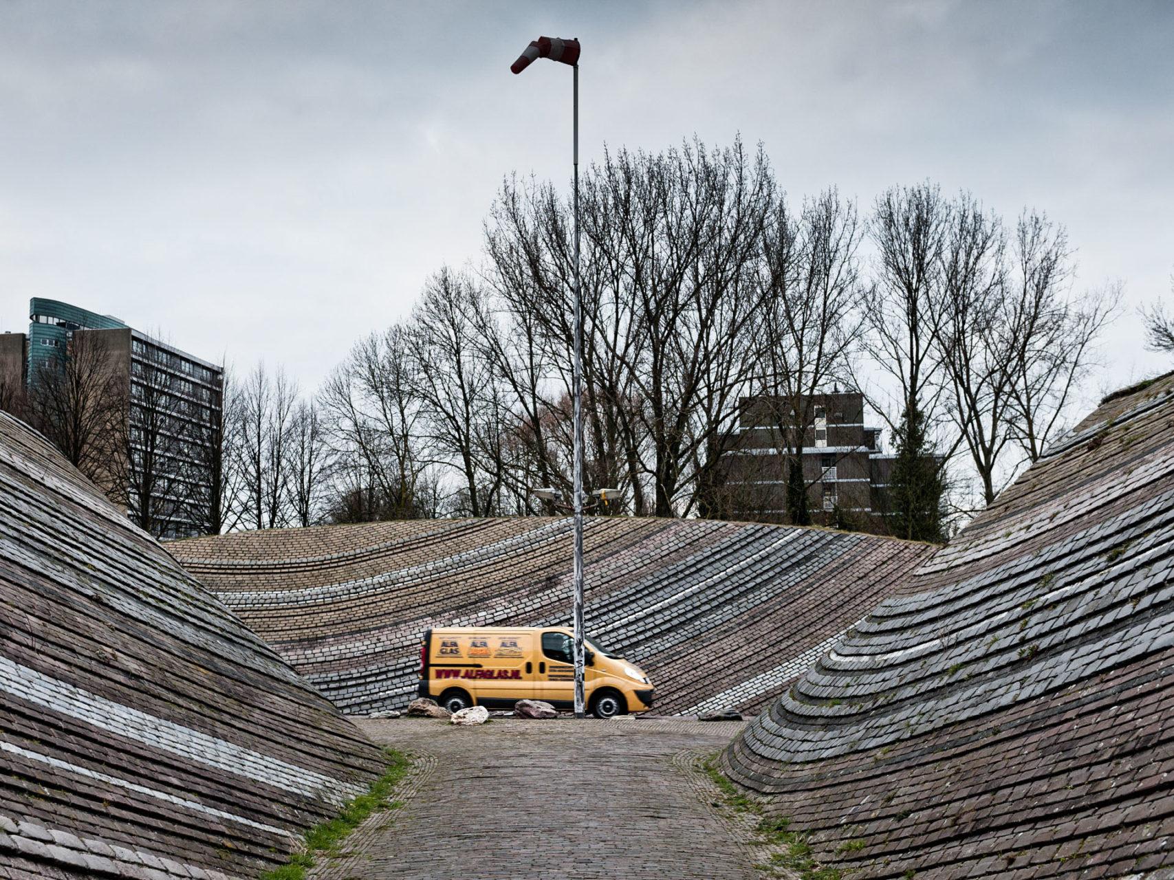 Kunstwerk in de wijk Watersteyn, Dordrecht 2013.