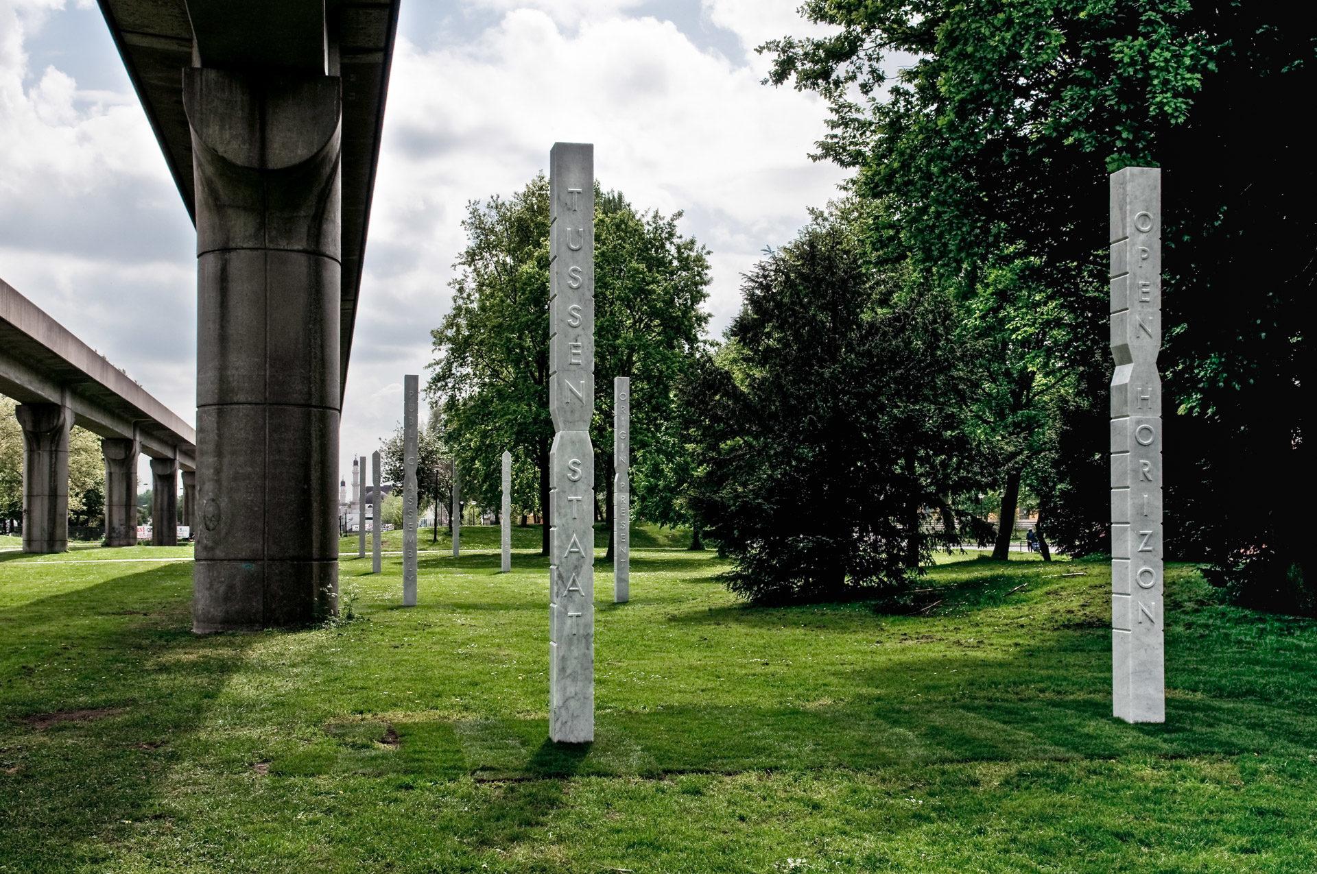 Jennifer Tee, Totem Today. Open Source/ Straat van Sculpturen, 2009.